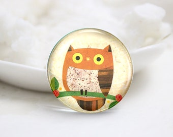 10mm 12mm 14mm 16mm 18mm 20mm 25mm 30mm Handmade Round  Photo Glass Cabochon Dome Owl Image Glass Cabs    (P2547)