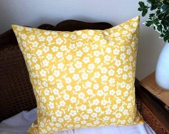 Yellow cushion Cover, Throw Cushion Case, Decorative Cushion Cover, Scatter Cushions Cover, Scatter Cushion, Housewarming Cushion Gift,