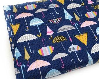Dashwood fabric, umbrella fabric, Come rain or shine,  printed cotton, 100% cotton, umbrella print, cute fabric, cotton, quilters cotton