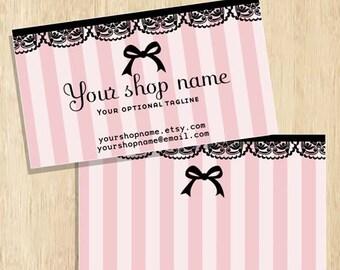 double sided Business Card design to match Wonderland Girl Premade shop set