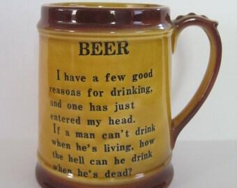 Vintage Beer Mug