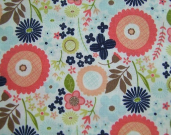 Navy Floral Woodland Friends Fabric by the Yard Riley Blake