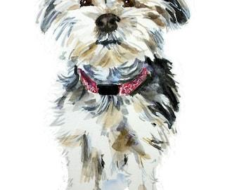 Custom Dog portrait, dog portrait, watercolor, pet portrait, watercolor painting, custom dog painting, dog owner gift, dog wall art
