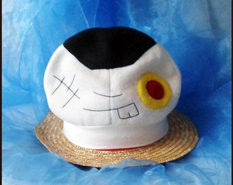 CAP Youth onigiri pirate Handstitched Pirate hat Cosplaymütze fleece