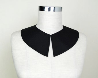 Wednesday Addams Collar , Black Detachable collar, Adams costume accessory, Hand Made collar ,Peter Pan collar , Pilgrim Costume