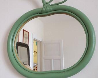 rattan mirror vintage Apple