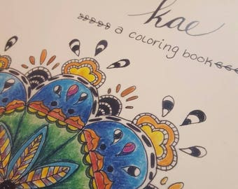 Designs by Kae- A Coloring Book