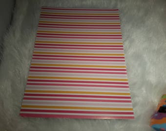 fancy striped scraptbooking glossy paper