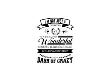 I am not just a Capricorn SVG