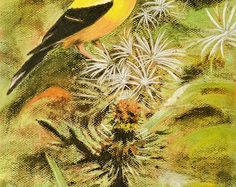 Goldfinch Bird Painting