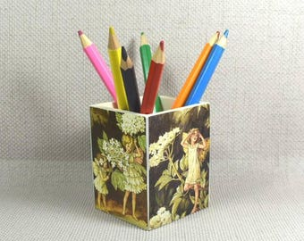 Fairy Pencil Pot, Fairy Gift for Girls, Tree Fairies, Make Up Pot, Fairy Gift, Fairy Fans, Gift for Girls, Pencil Holder, Free Gift Wrapping