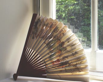 Vintage Chinese Paper Folding Fan