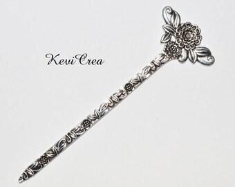 1 x mark Fleur 134 mm silver aged