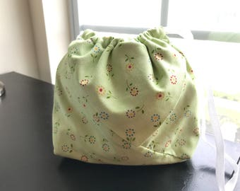 Dotted Flowers Origami Bag