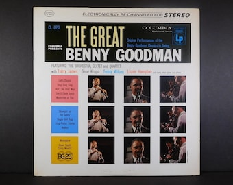 The Great Benny Goodman Vintage Vinyl LP & The Orchestra / Big Band Swing / 1930s Recordings Re-Channeled for Stereo / Harry James / Jazz