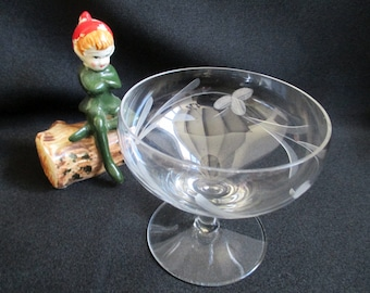 Vintage Champagne Bowl glass, Coupe glass, Dessert Dish, cut glass detail, replacement