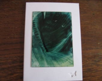 Original Encaustic Painting greeting card here or there 17