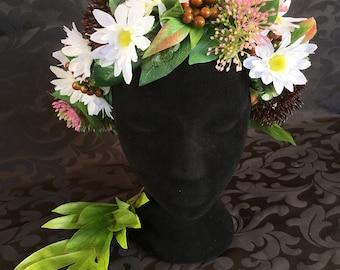 Woodland flower crown/wreath
