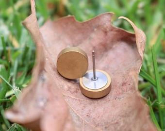 Brass Earrings | Minimalist Jewelry | Titanium Earrings | Hypoallergenic | Natural Earrings | Gift for Her | Gift for Mom