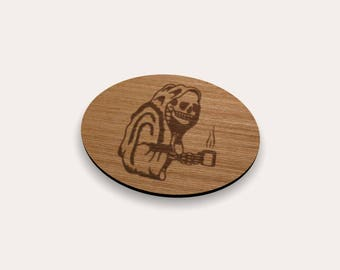Death With Coffee Coaster 262-401 (Set of 4)