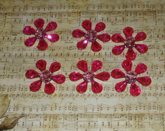 Fuchsia flower Magnets