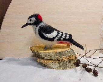 Woodpecker bird of wool