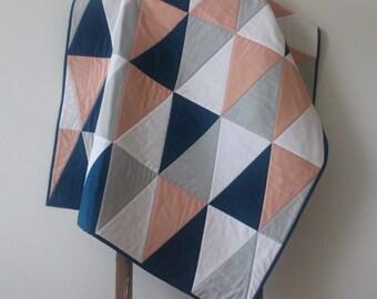 Modern Scandinavian Triangle Quilt