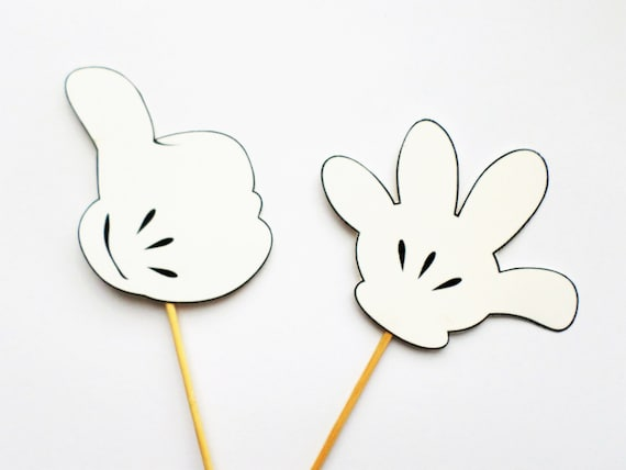 Items similar to Mickey Mouse hands Mickey Mouse photo