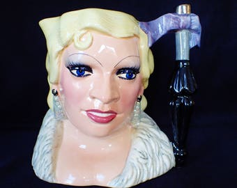 Royal Doulton Mae West Celebrity Series Large Toby Jug