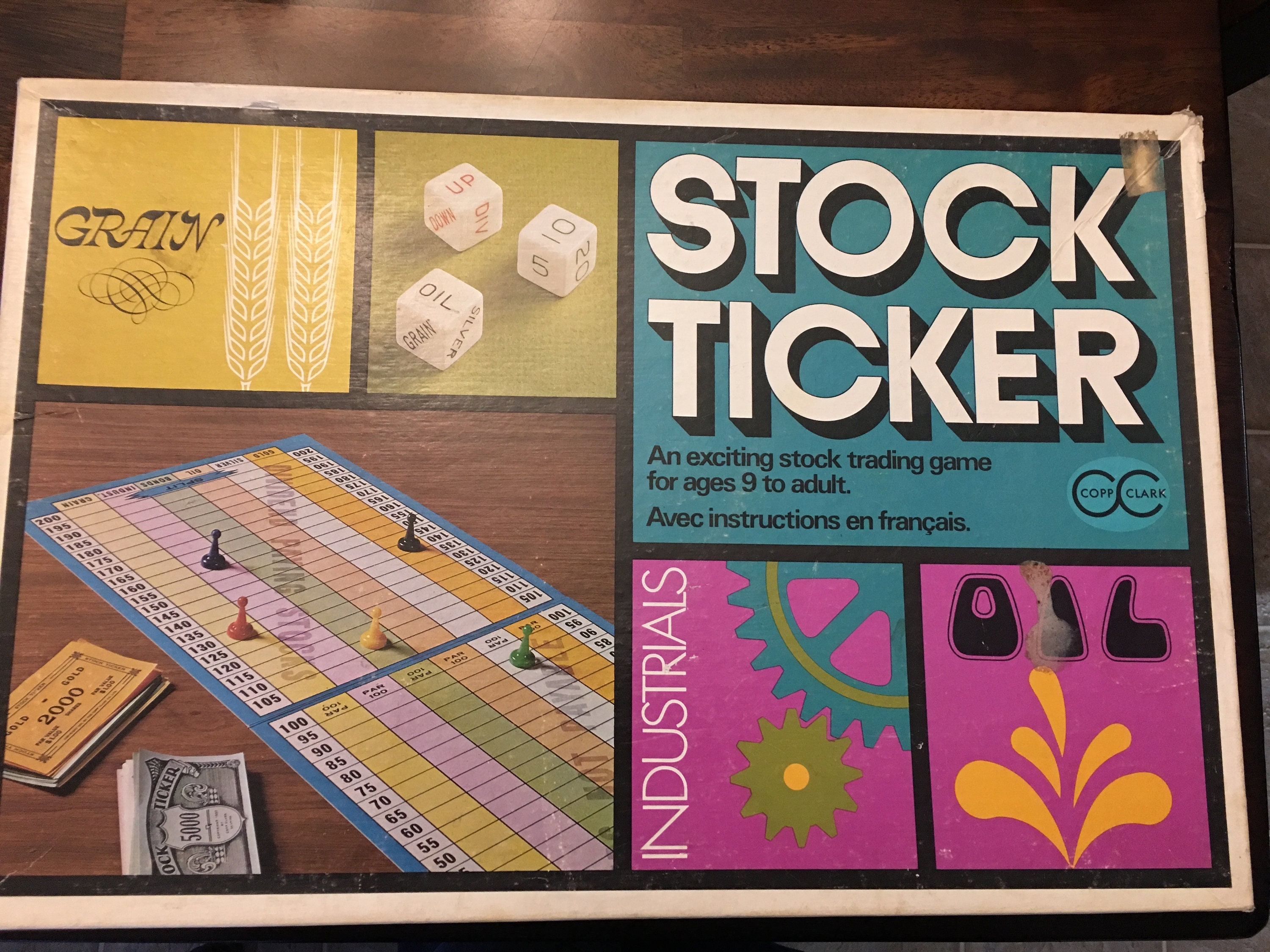 Vintage Stock Ticker Board Game Includes All Accessories