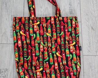 madame jeanette pepper chilisauce bag shopper reversible shoulderbag  chilipepper shoppingbag beachbag yogabag schoolbag spicy red pepper