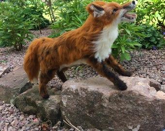 Needle felted fox...'walking in the garden'