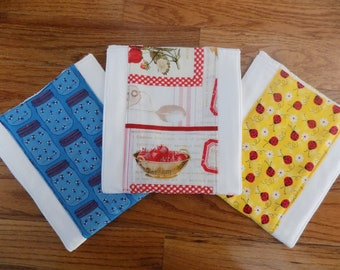 Set of 3 - Country Chic Burp Cloths - Baby Shower Gift