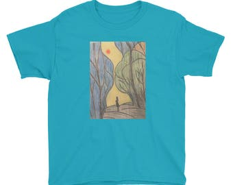 Youth Searching For Your Path Hand Drawn T-Shirt