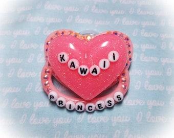ABDL Kawaii Princess Pink Adult Pacifier
