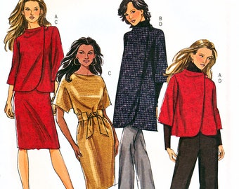 Butterick B5259 Sewing Pattern for Misses' Jacket, Coat, Dress, Belt and Pants - Uncut - Size 8, 10, 12, 14