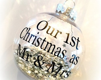 Our First Christmas As Mr And Mrs / Mr And Mr / Mrs And Mrs Christmas Tree Bauble