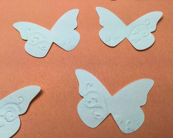30 Handmade butterflies - Stampin Up - Black - Metallic - Gold - Silver - Copper - hand painted - Perfect Pearls - butterfly embellishments