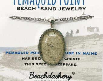Pemaquid Point Sand Jewelry, Pemaquid Point Maine Sand Jewelry, Beach Sand Jewelry, Sand Jewelry, Summer, One of a Kind Gift, Made in Maine