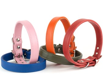 Handmade Italian Calf Leather Dog Collar