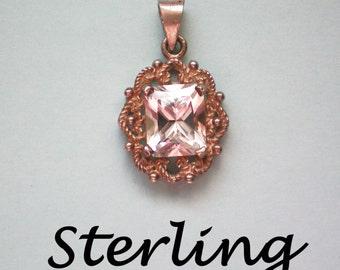 Quartz Crystal Sterling Silver Pendant - 2569