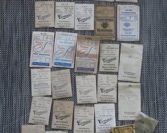 Mainsprings for Watches Quantity of 30 in Original Packages Early 1900 Era