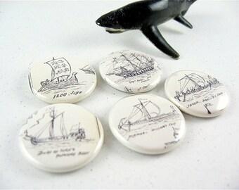 5 Nautical Sailing Boat Ships Fridge Magnets Shark Home & Living, Organization, Kitchen magnabilities  no. 2 1152