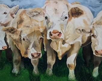 "Fine Art Giclee Print ""Grazing Beauties"""