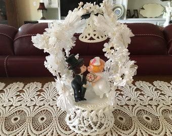 Vintage Wedding Cake Topper - Bride and Groom Cake Toppers - Vintage Weddings - Food Craft Supplies