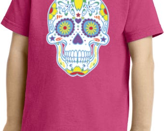 Neon Sugar Skull Toddler Shirt WS19099-CAR54T
