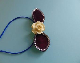 Flower mini hat
