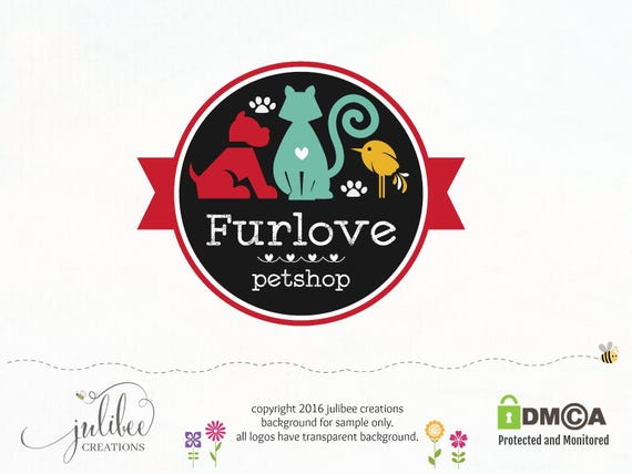 Top premade logo dog sitting logo photography logos blog logo pet HL27
