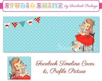 DIY Facebook Cover Package - Facebook Timeline Cover and Profile Picture - Sweet Times - Website or Blog Banner Digital Instant Download