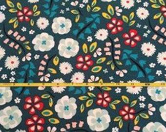 "NEW Cloud 9 Prize Garden Floral on  Organic Cotton Interlock 54"" wide per yard"